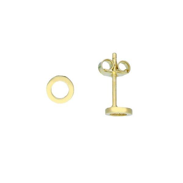 Gouden oorknop - open rondje