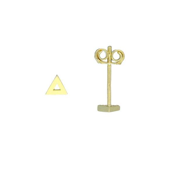 Gouden oorknop - driehoek