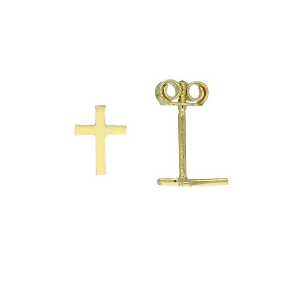 Gouden oorknop - kruisje