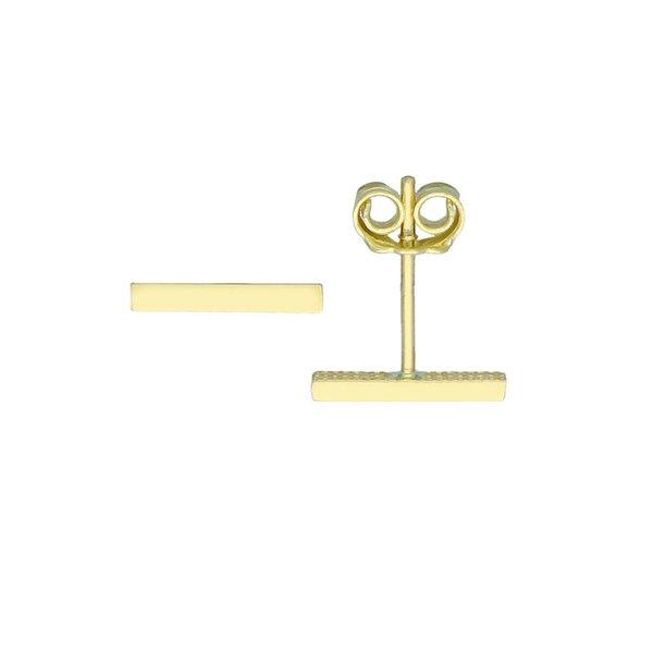 Gouden oorknop - staafje