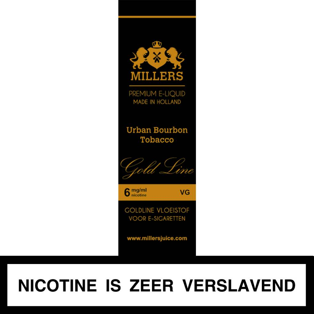 Millers Juice Liquid - Urban Bourbon Tobacco
