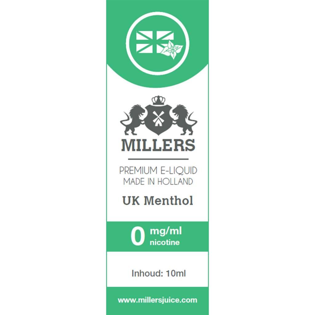 Millers Juice UK Menthol e-liquid