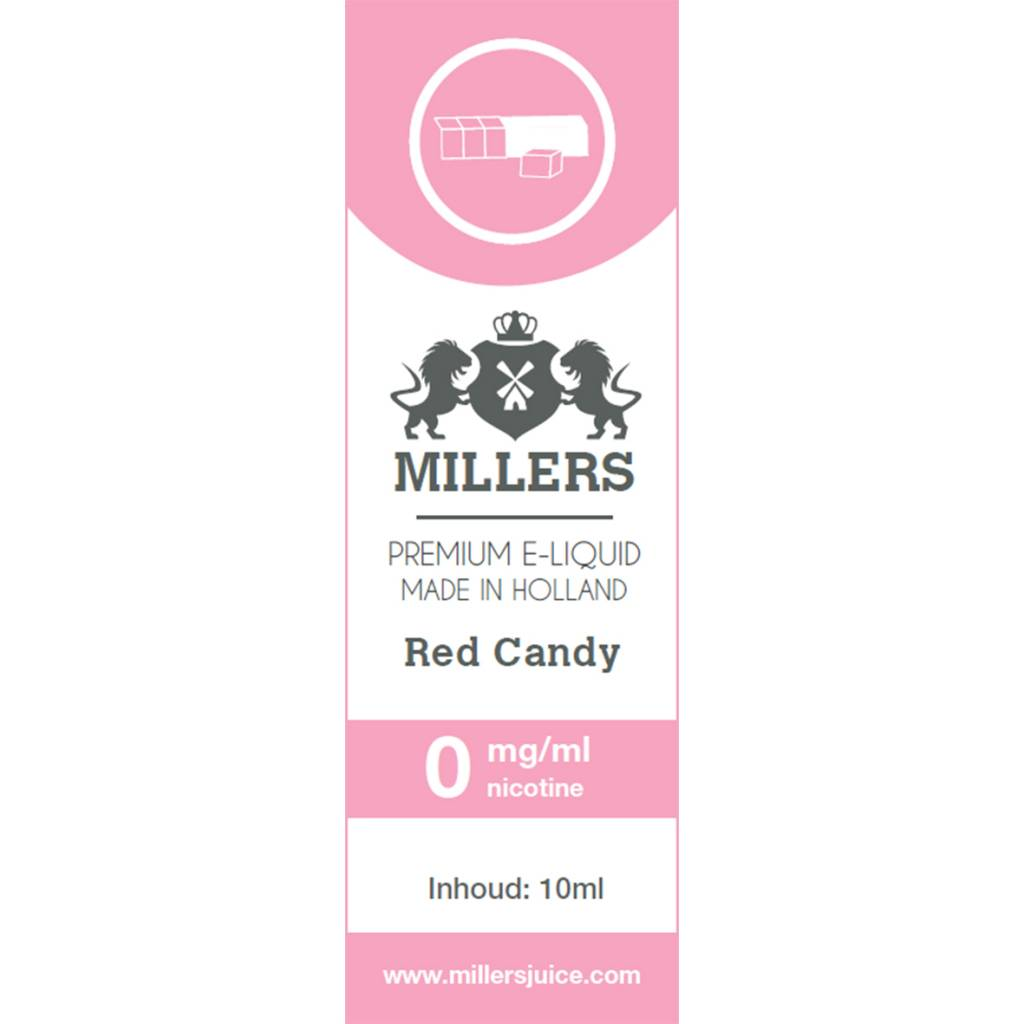Millers Juice red candy e-liquid