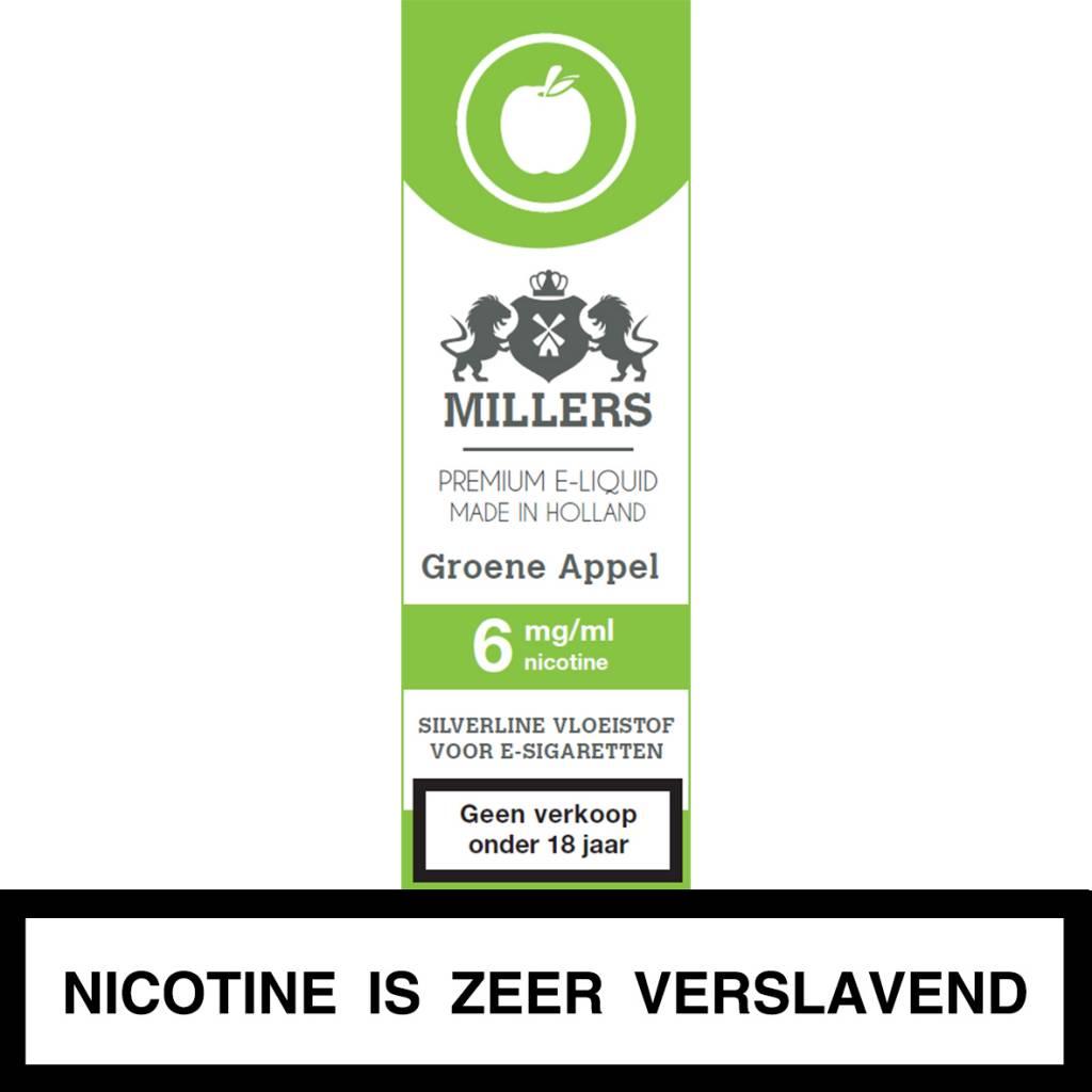 Millers Juice groene appel e-liquid