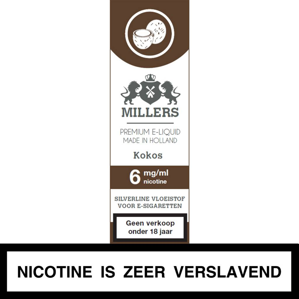 Millers Juice kokos e-liquid