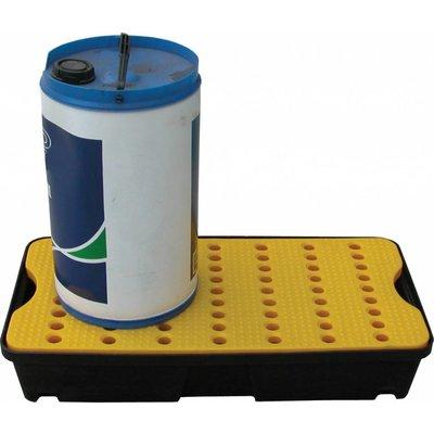 Kunststof vloeistofopvangbak 805x405x155mm met rooster - 30 liter inhoud