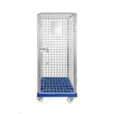Antidiefstal rolcontainer 810x720x1800mm - kunststof bodem