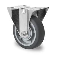 Bokwiel 100mm diameter met kogellager - PP /TPR