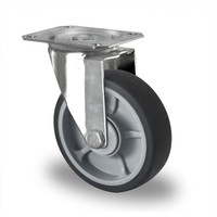 Zwenkwiel 125mm diameter met kogellager - PP /TPR