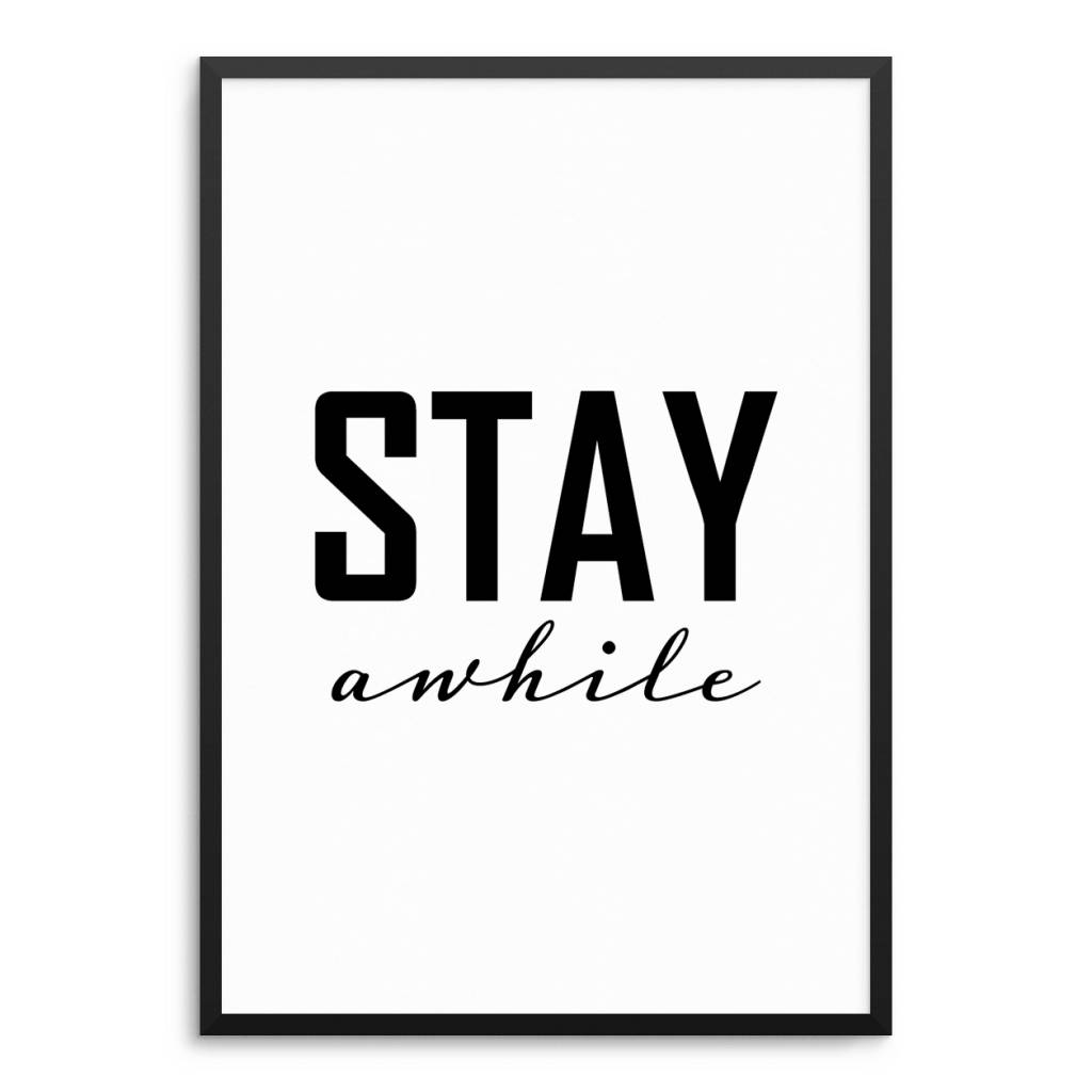 Lovely Bird Stay Awhile Poster
