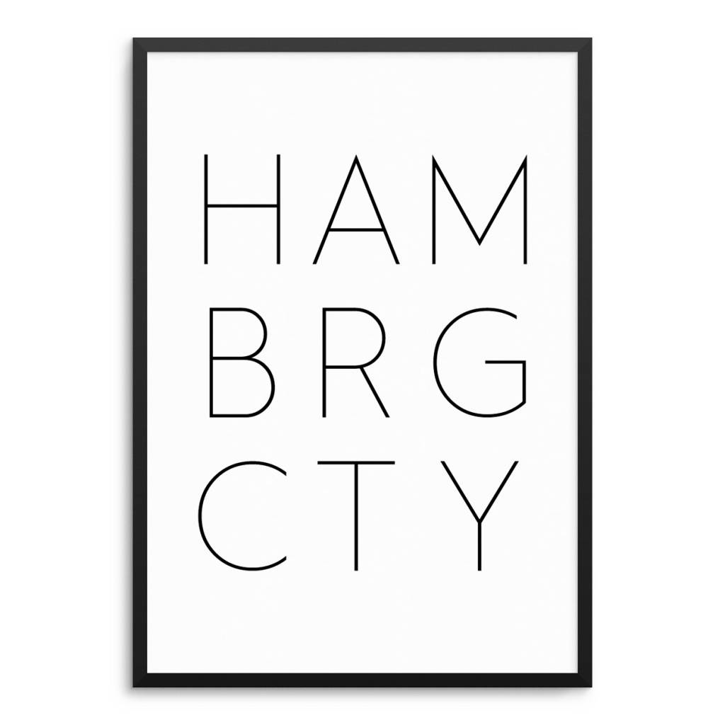 Lovely Bird HAMBURG CITY Poster