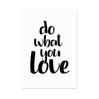 Do What You Love Postkarte