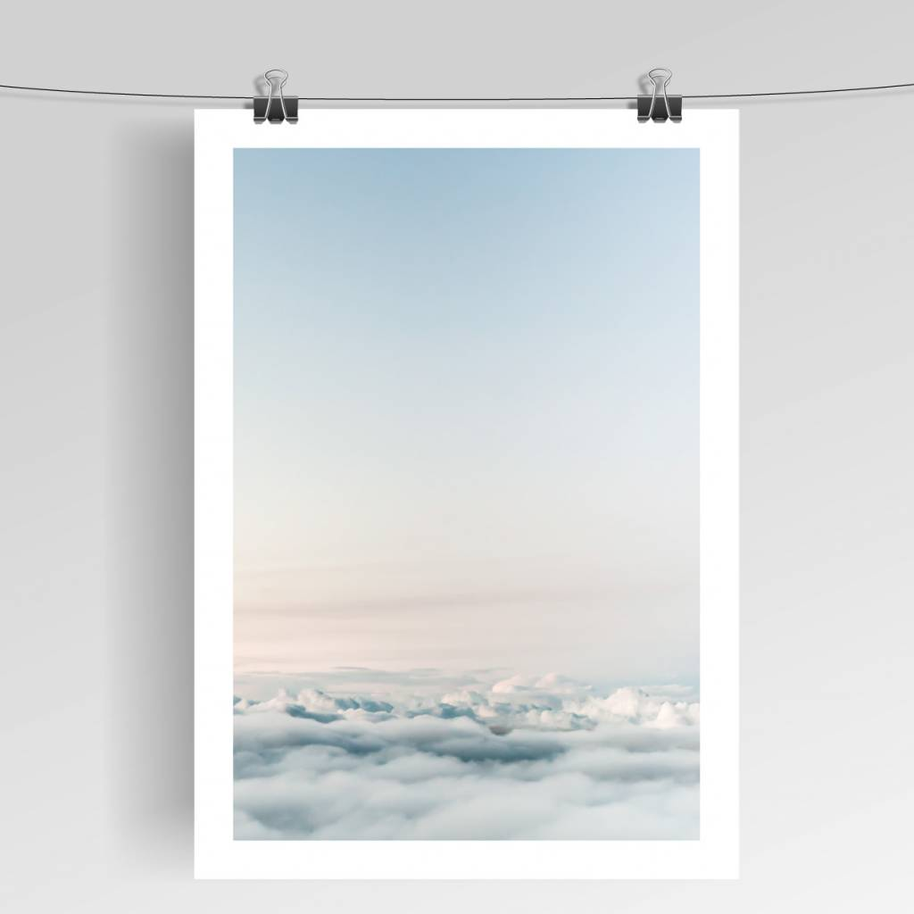 Lovely Bird Above The Clouds Poster