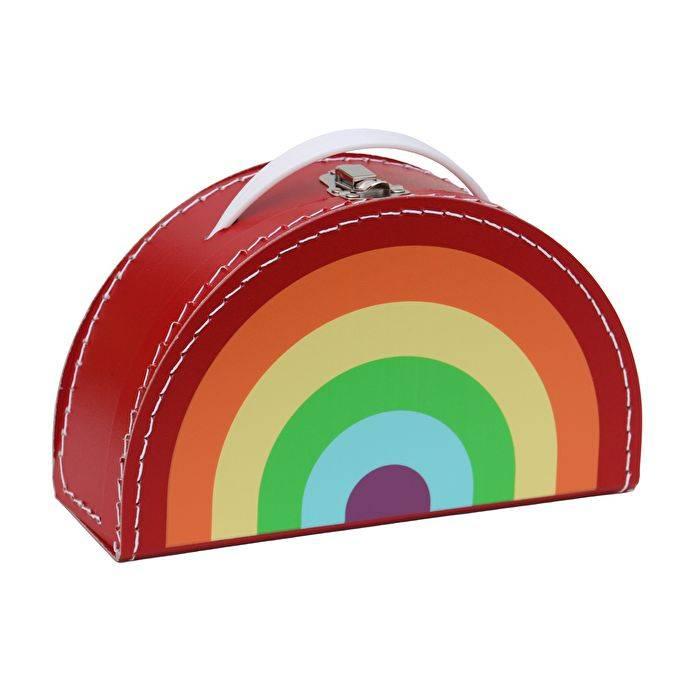 Kids Boetiek Deko Koffer Regenbogen Rot