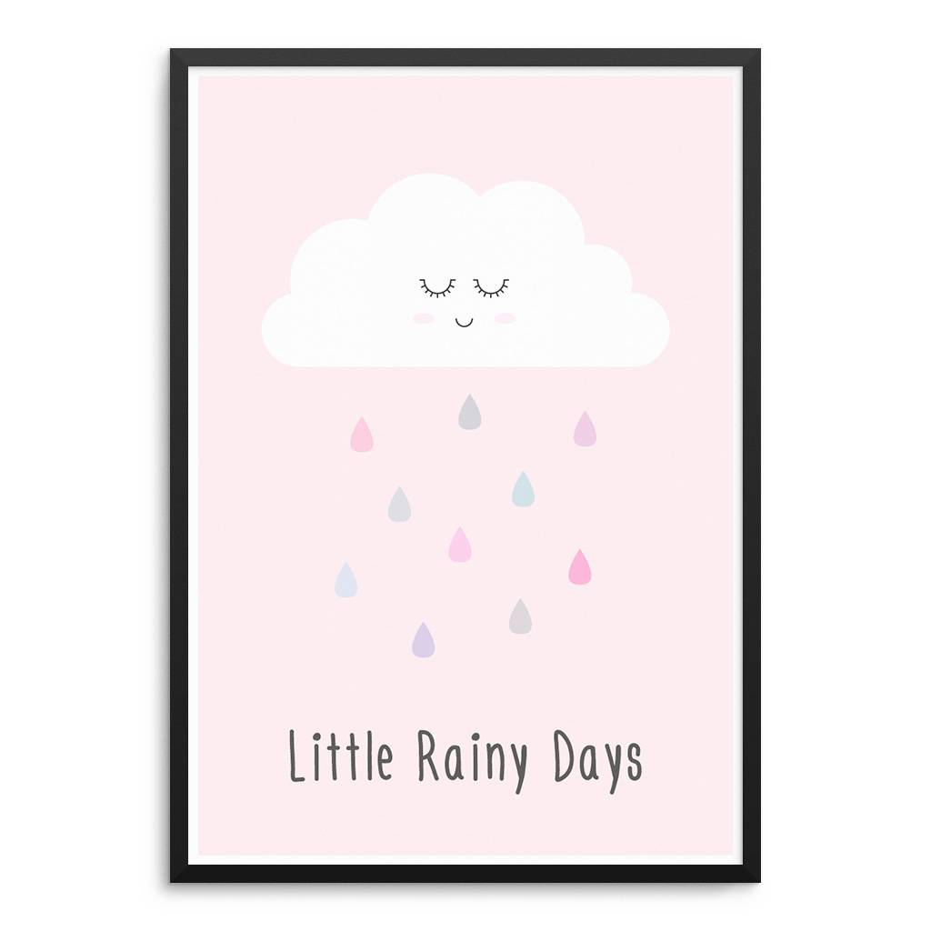 Lovely Bird Little Rainy Days Poster