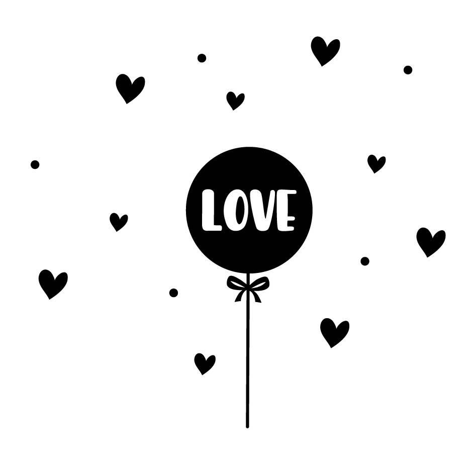 Lovely Bird Wandsticker Set Love