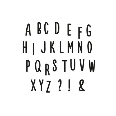 Alphabet Wandsticker