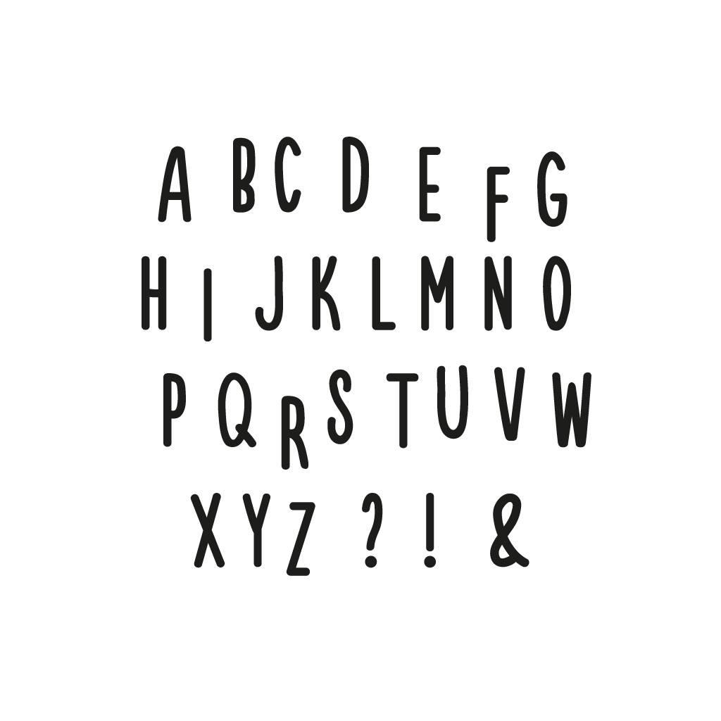 Lovely Bird Wandsticker Alphabet