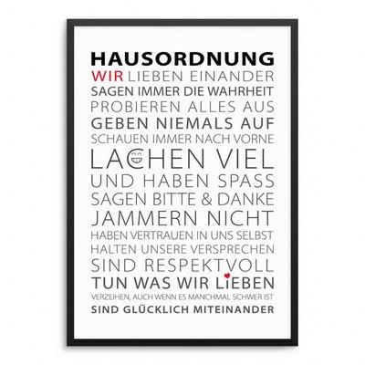 Hausordnung Poster
