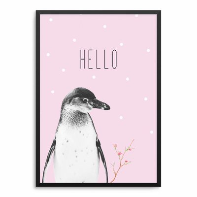 Pinguin Rosa Poster