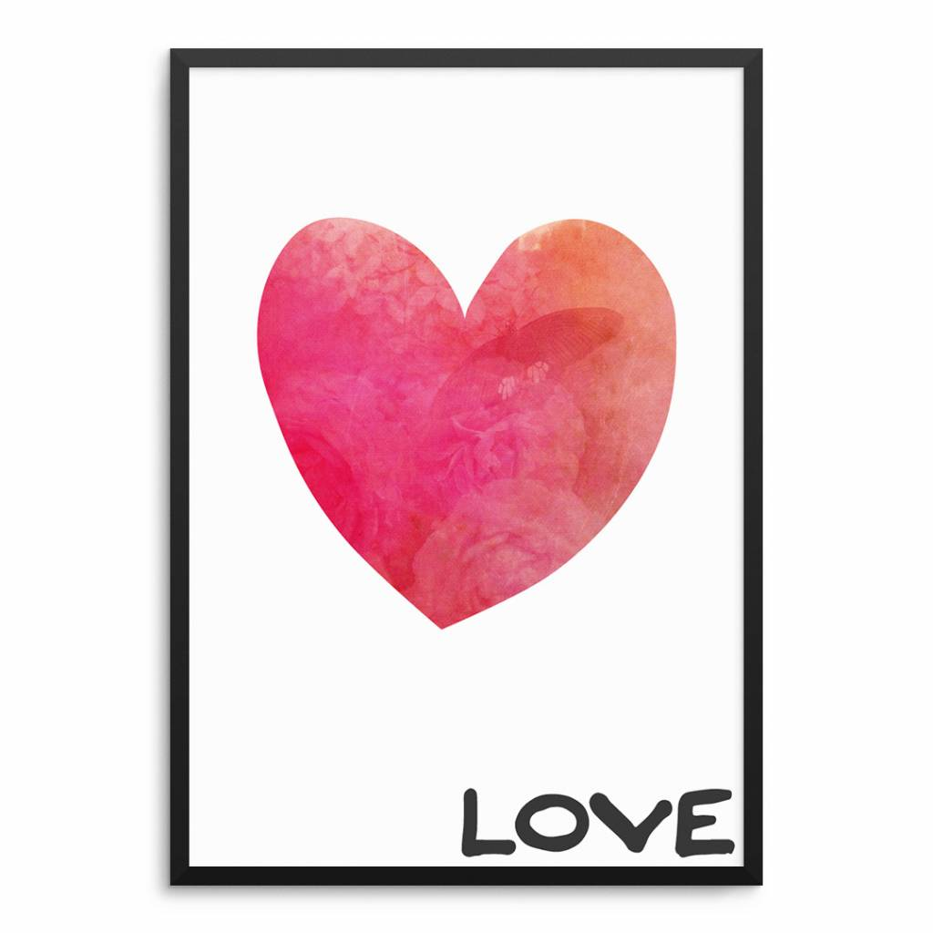 Lovely Bird Love Herz Poster