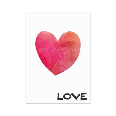 Love Herz Postkarte