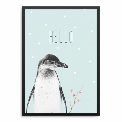 Pinguin Mint Poster