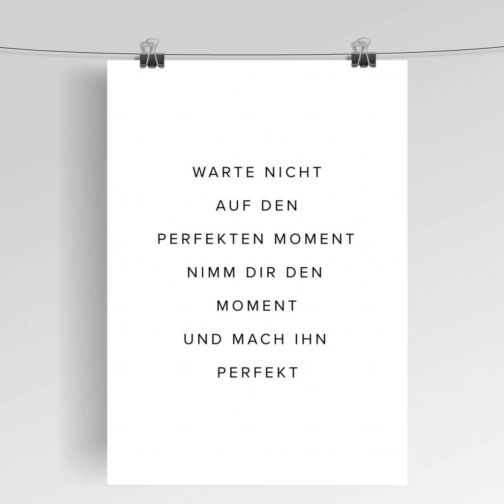 Lovely Bird Perfekter Moment Poster