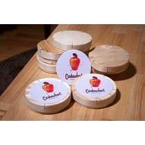 Wooden cheese container (6x)