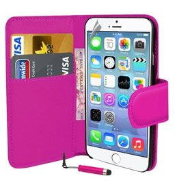 Bookwallet hoes iPhone 6(s) Plus roze