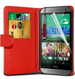 Bookwallet hoes HTC One Mini 2 rood