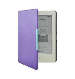 """Lunso Lunso - sleepcover flip hoes - Kobo Touch 1 (6"""") - Paars"""