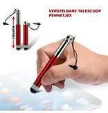 Stylus touchscreen pen uitschuifbaar voor smartphones, tablets en e-readers