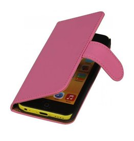 Bookwallet hoes iPhone 5c roze