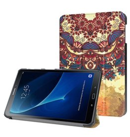 3-Vouw vintage bloem stand flip hoes Samsung Galaxy Tab A 10.1