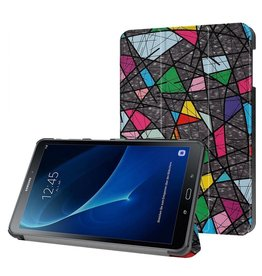 3-Vouw abstract patroon stand flip hoes Samsung Galaxy Tab A 10.1