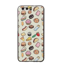 Reliëf softcase hoes voedsel Huawei P10