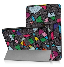 3-Vouw abstract patroon stand flip hoes Samsung Galaxy Tab S3 9.7