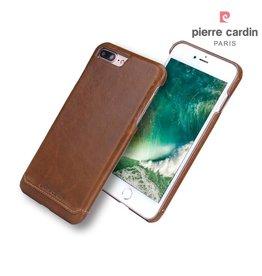 Pierre Cardin Pierre Cardin echt lederen hardcase hoes iPhone 7 / 8 Plus bruin
