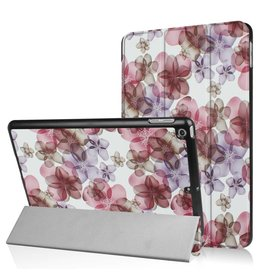 3-Vouw bloesem stand flip hoes iPad 9.7 inch (2017)