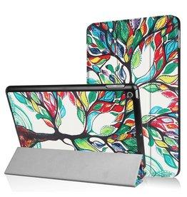 3-Vouw kleurrijke boom stand flip hoes iPad 9.7 (2017/2018)
