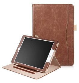 Luxe stand flip hoes iPad 9.7 (2017/2018) / Air / Air 2 bruin