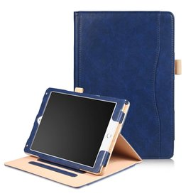 Luxe stand flip hoes iPad 9.7 inch (2017) / Air / Air 2 blauw