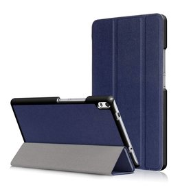 3-Vouw stand flip hoes Lenovo Tab 4 8 Plus blauw