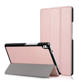 3-Vouw stand flip hoes Lenovo Tab 4 8 Plus roze/goud