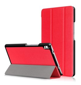3-Vouw stand flip hoes Lenovo Tab 4 8 Plus rood