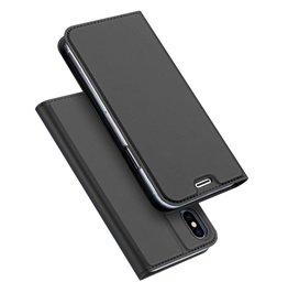 Dux Ducis pro serie slim wallet hoes iPhone X grijs