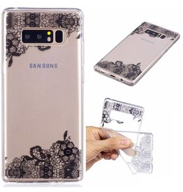 Softcase hoes lace bloemen Samsung Galaxy Note 8