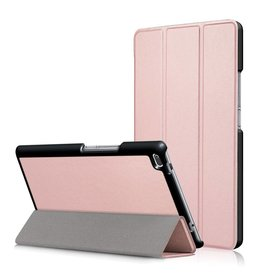 3-Vouw stand flip hoes Lenovo Tab 4 8 roze/goud