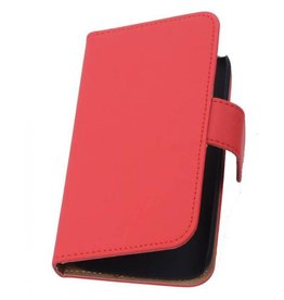 Bookwallet hoes Sony Xperia Z1 rood